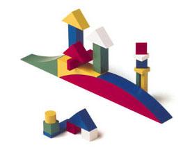 Bloque de composición diseñado en 1928 por Alma Siedhoff-Buscher, en la Bauhaus