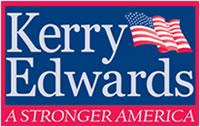 Identidad visual de Kerry y Edwards