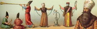 Dignatario persa con pipa de ceremonias, por Racinet