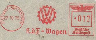 Sello de 1928 con el famoso logotipo dentado
