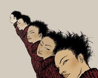 "Alfabeto de Yuko shimizu"" title=""Letra Q: ""Quintuplets In Queue"